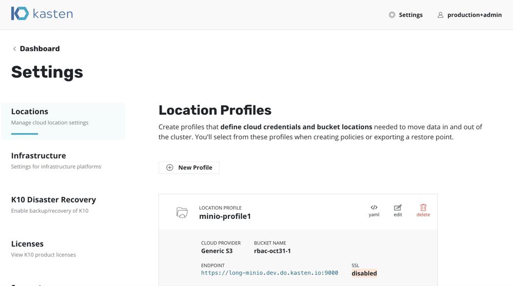 production admin location
