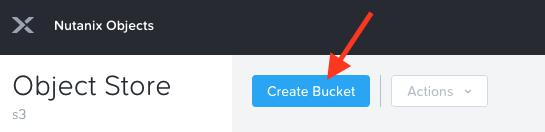 create object store bucket kasten 2